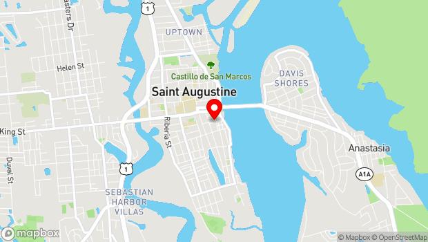 Google Map of 20 Aviles Street, St. Augustine, FL 32084