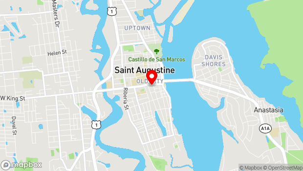 Google Map of 210 St. George Street, Suite C-2, St. Augustine, FL 32084