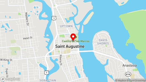 Google Map of 33 St. George Street, St. Augustine, FL 32084