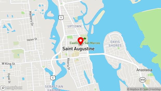 Google Map of 54 Cuna Street, St. Augustine, FL 32084