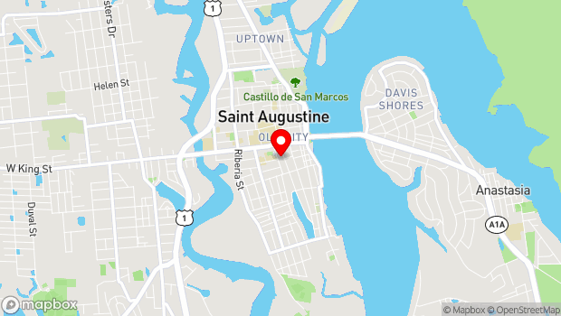 Google Map of 75 King Street, St. Augustine, FL 32084