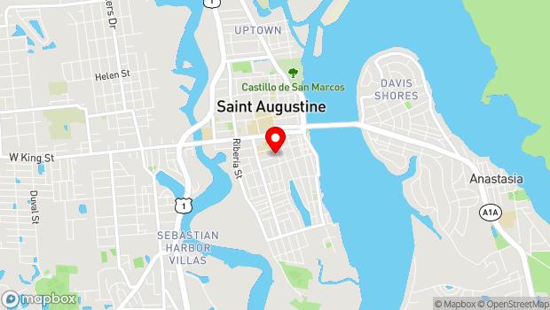 Google Map of 36 Granada Street, St. Augustine, FL 32084