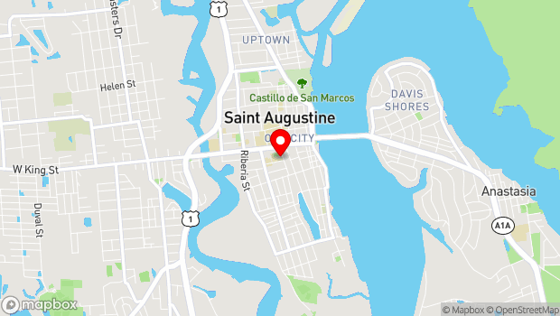 Google Map of 14 Granada Street, St. Augustine, FL 32084