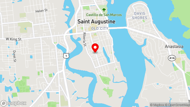 Google Map of 102 Martin Luther King Ave., St. Augustine, Fl. 32084, St. Augustine, FL 32084
