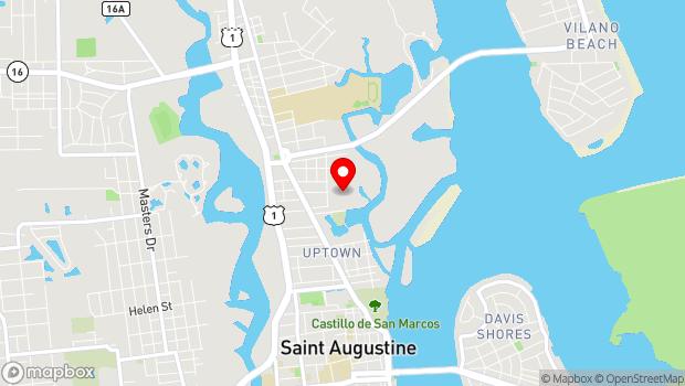 Google Map of 11 Magnolia Ave, St. Augustine, FL 32084