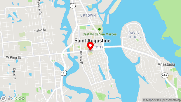 Google Map of 83 King St., St. Augustine, FL 32084