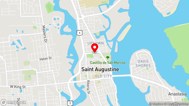 Google Map of West Castillo Drive, St. Augustine, FL 32084