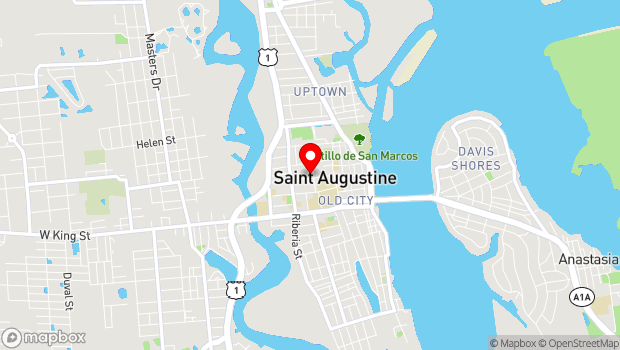 Google Map of 27 Sevilla St, St. Augustine, FL 32084