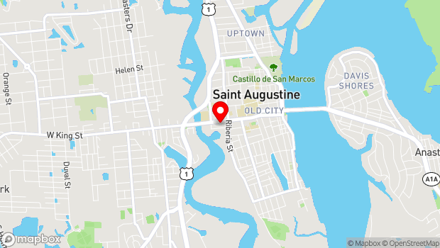 Google Map of 137 King Street, St. Augustine, FL 32084