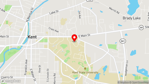 Google Map of 1325 Theatre Drive, Kent, OH 44242