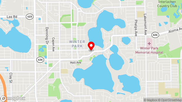Google Map of 460 E New England Ave, Winter Park, FL 32789