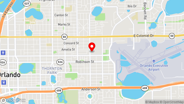Google Map of 425 N. Bumby Ave., Orlando, FL 32803