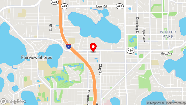 Google Map of 1905 Kentucky Ave., Winter Park, FL 32789