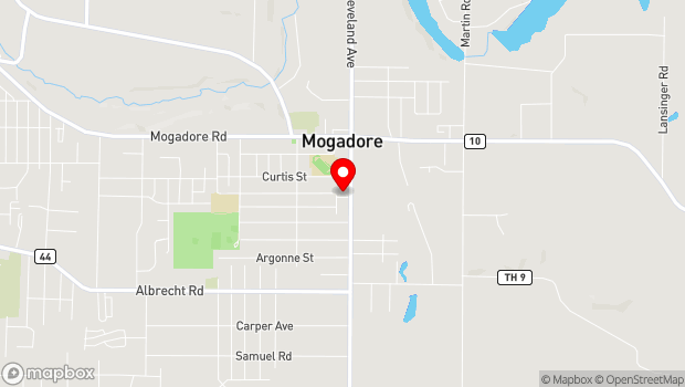 Google Map of 144 S. Cleveland Avenue, Mogadore, OH 44260