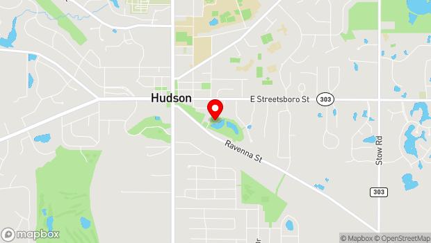 Google Map of 41 South Oviatt Street, Hudson, OH 44236
