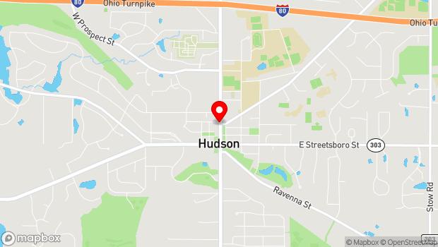 Google Map of 160 N. Main St., Hudson, OH 44236