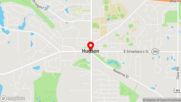 Google Map of Hudson, OH 44236
