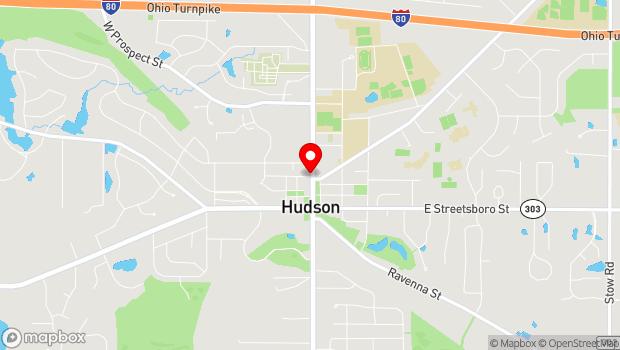 Google Map of 178 1/2 N. Main St., Hudson, OH 44236