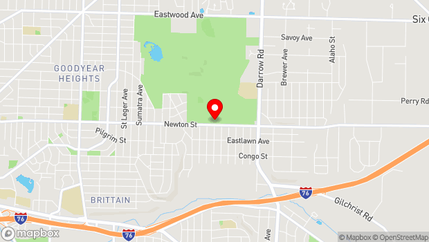 Google Map of 2077 Newton St., Akron, OH 44305