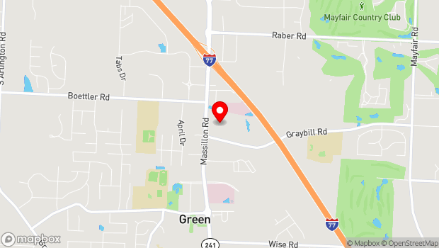 Google Map of 3875 Massillon Rd, Green, OH 44685