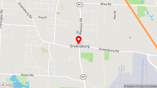 Google Map of 4740 Massillon Road, Green, OH 44232