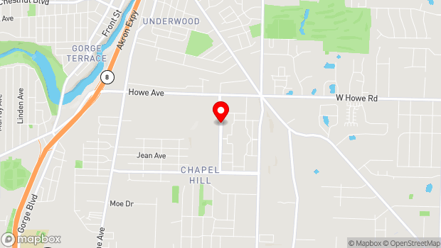 Google Map of 1954 Buchholzer Blvd., Akron, OH 44310
