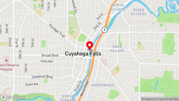 Google Map of 2131 Front Street, Cuyahoga Falls, OH 44221