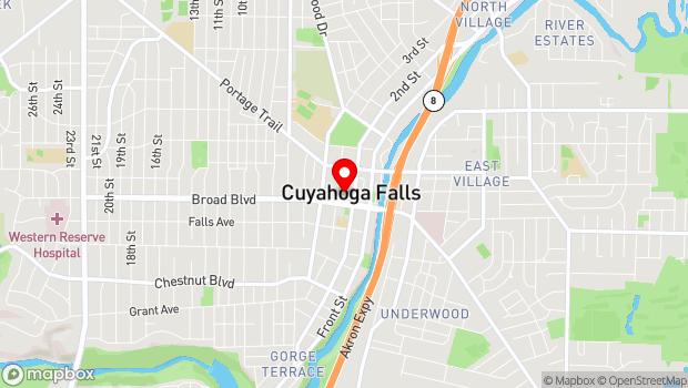 Google Map of 2015 Third St., Cuyahoga Falls, OH 44221