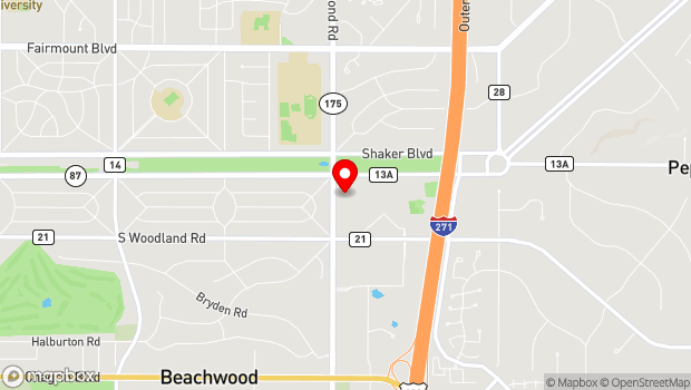 Google Map of 2929 Richmond Road, Beachwood, OH 44122