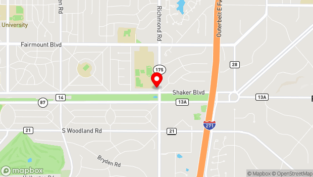 Google Map of 25501 Shaker Blvd., Cleveland, OH