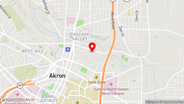 Google Map of 243 Furnace Street, Akron, OH 44308