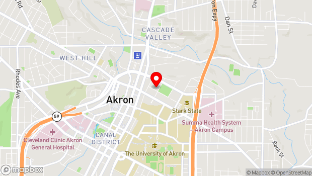 Google Map of 50 North Prospect Street, Akron, OH 44304