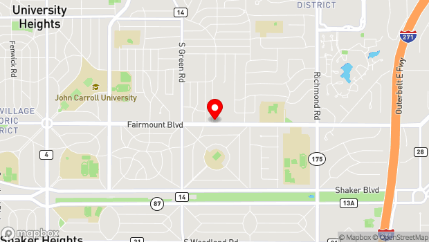 Google Map of 23737 Fairmount Blvd., Beachwood, OH 44122