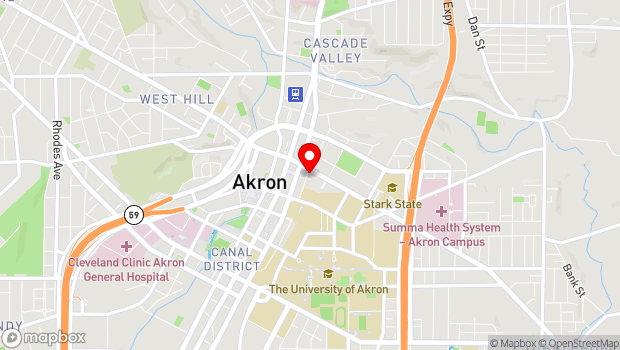 Google Map of 140 East Market Street, Akron, OH 44308