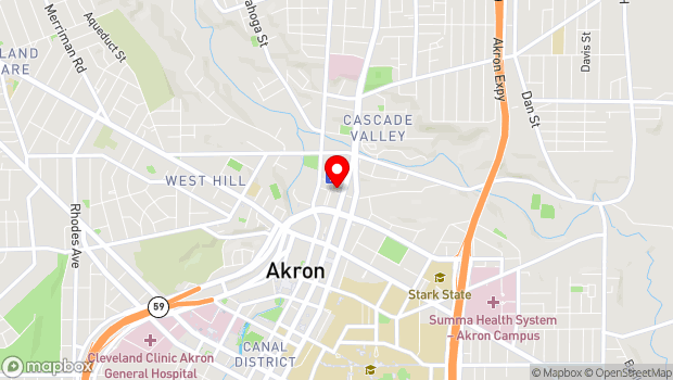 Google Map of 43 Furnace St., Akron, OH 44308