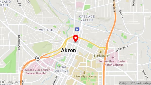 Google Map of 22 North High Streeta, Akron, OH 44308