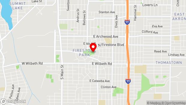 Google Map of 1480 Girard Street, Akron, OH 44301