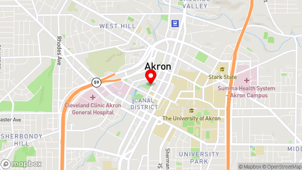Google Map of Akron, OH 44308