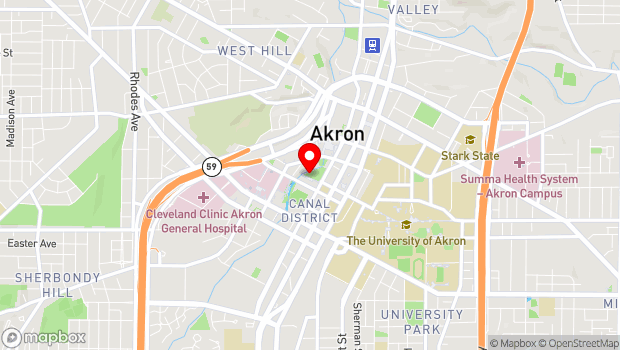 Google Map of 200 S. Main st, Akron, OH 44312