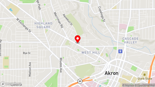 Google Map of 451 W Market St, Akron, OH 44303
