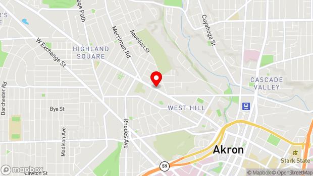 Google Map of 467 W. Market Street, Akron, OH 44303