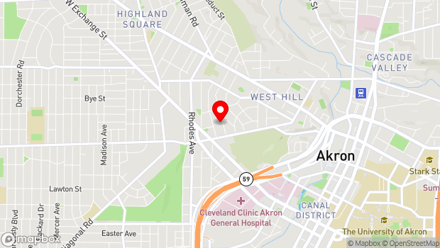 Google Map of 220 S. Balch St., Akron, OH 44302