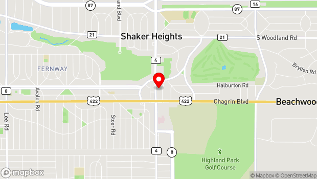 Google Map of 3445 Warrensville Center Road, Shaker Heights, OH 44122