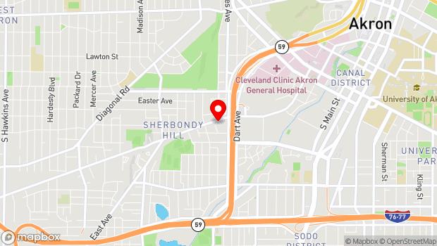 Google Map of 440 Vernon Odom Blvd, Akron, OH 44307