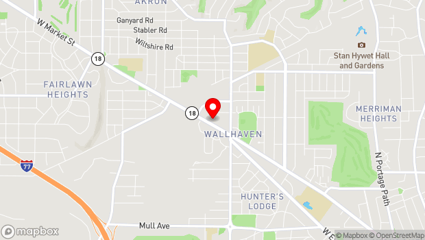 Google Map of 1765 W Market St, Akron, OH 44313