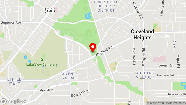 Google Map of 1 Monticello Blvd., Cleveland Heights, OH 44118