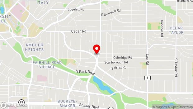 Google Map of 2747 Fairmount Blvd, Cleveland Heights, OH 44106