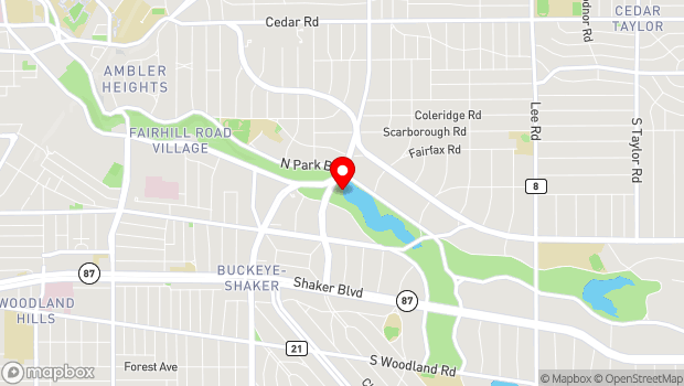 Google Map of Brook Road, Cleveland Heights, OH 44118