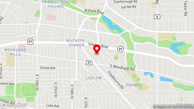 Google Map of 2860 Coventry Rd, Shaker Heights OH 44120, Shaker Heights, OH 44120