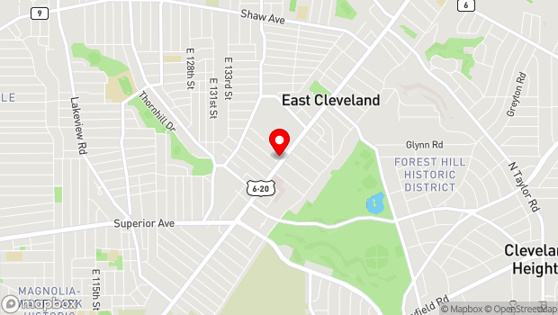 Google Map of 14101 Euclid Avenue, East Cleveland, OH 44112